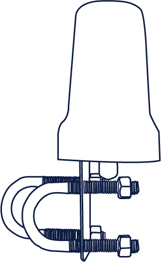 Iridium Beam Mast/Pole Antenna (RST710) drawing