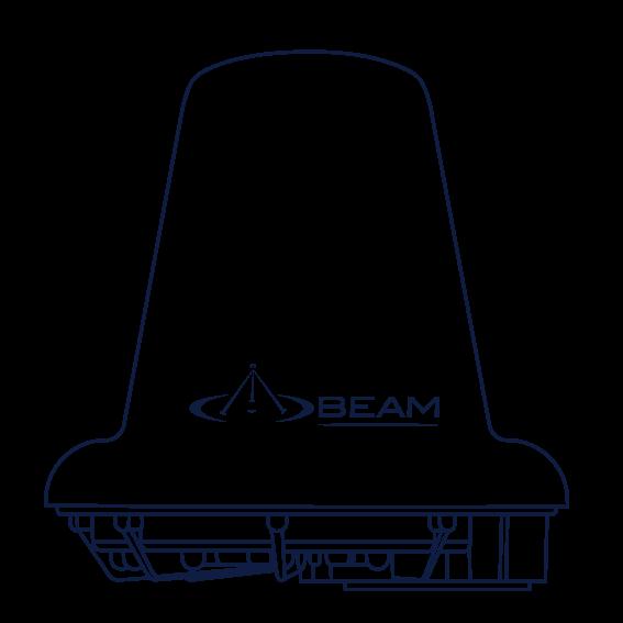 Beam Iridium Active Antenna RST740 drawing