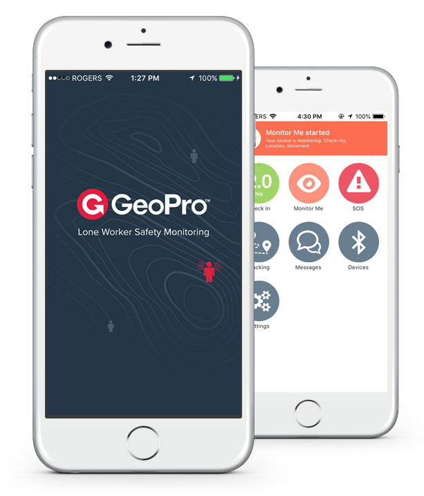 GeoPro Mobile App for Smartphones with Alert Button