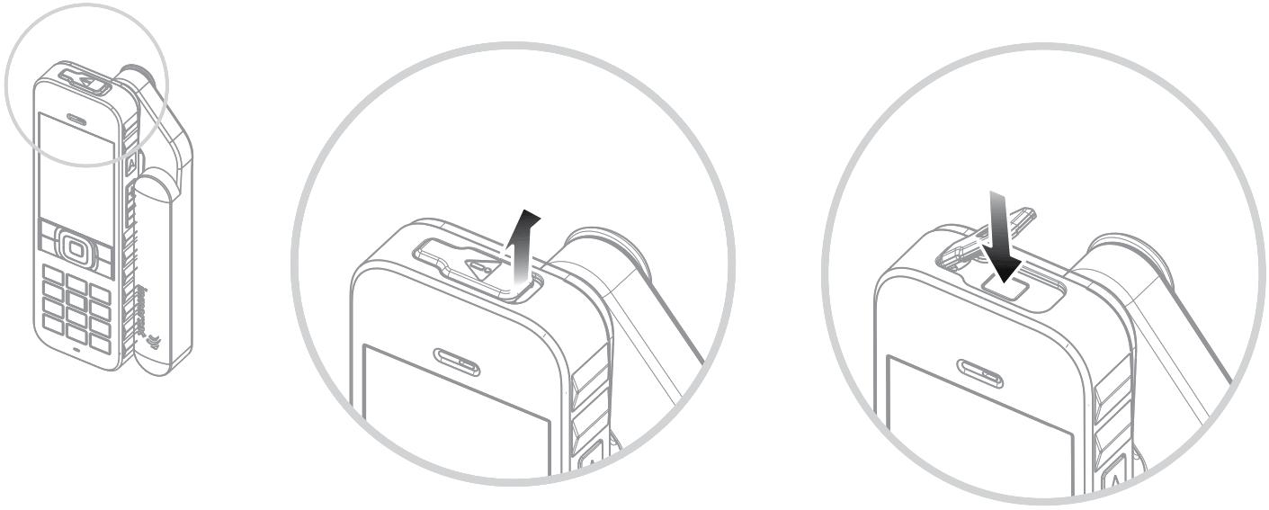 Inmarsat IsatPhone Emergency Button