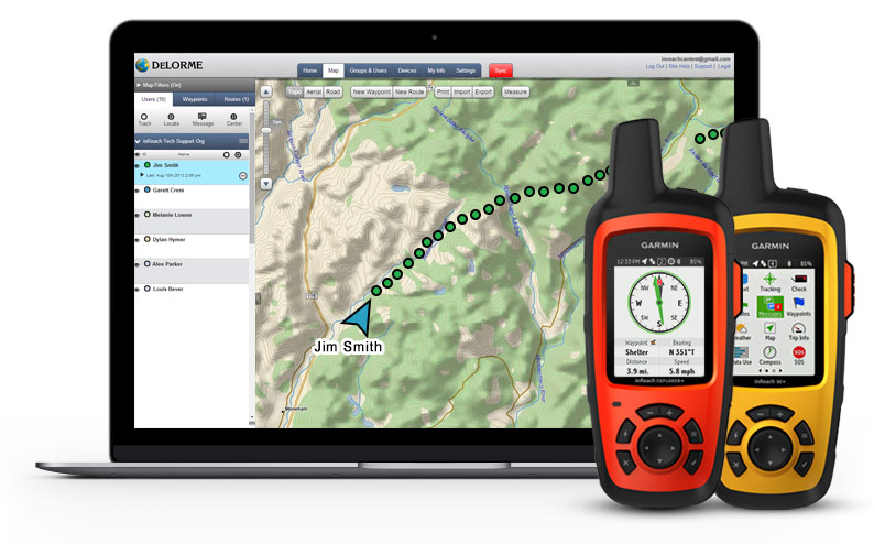 inReach Enterprise Web App with devices