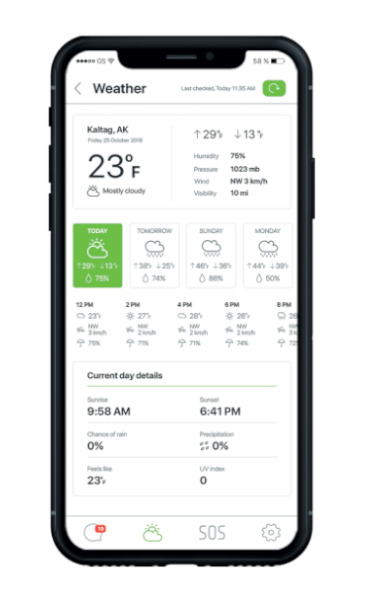 On-demand accurate weather forecasts
