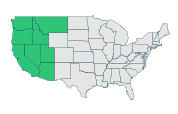 Washington + Oregon + California + Idaho + Nevada + Arizona + Utah + Montana
